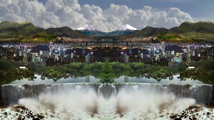 Kit Wise, Xanadu 2009, HD video installation, silent 6:00, mirrored glass, Digital production Darin Bendall, an Experimenta Commission