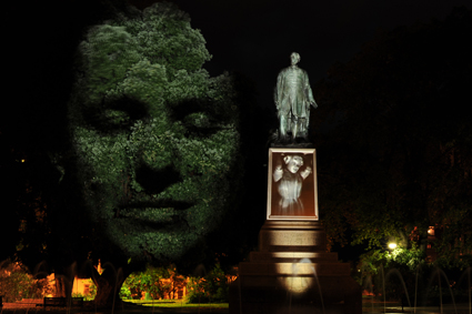Intension 2011, Craig Walsh (three channel video projection at Franklin Square, Hobart