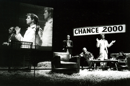 Christoph Schlingensief (right), Chance 2000—Vote for Yourself (1998)