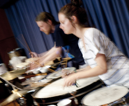 Percussion students, Queensland Conservatorium Griffith University