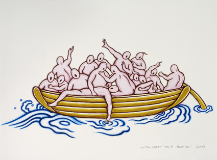 Guan Wei, On the water no. 4 2007, synthetic polymer paint on cotton rag. Private collection, Brisbane. Reproduced courtesy of the artist
