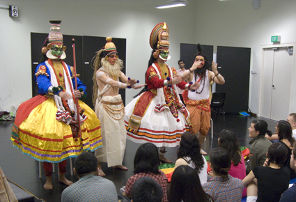 LASALLE acting students learn Kathakali performance skills