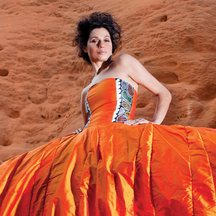 Flash Women, Juliette Knox in her Uluru dress, 2010, designer Yaneira Velasquez