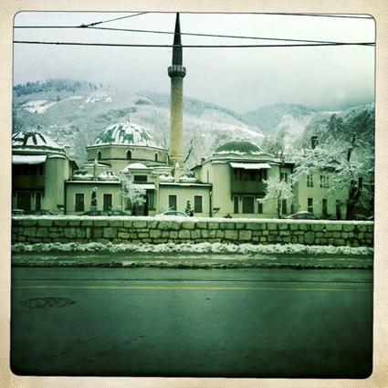 Across the Miljacka River, Sarajevo