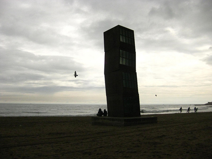 Rebecca Horn Sculpture at Barceloneta