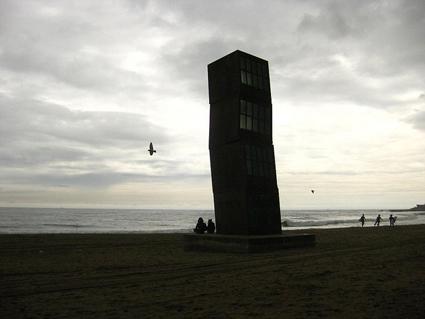 Rebecca Horn Sculpture at Barceloneta