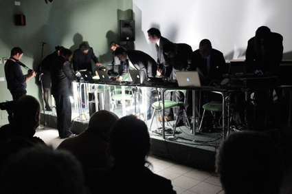 Decibel performing John Cage's Variations VII