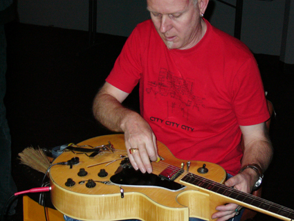 Dave Brown at Undue Noise in 2005