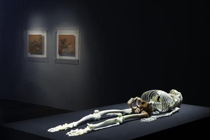 He Xiangyu, Skeleton (2010), jade, installation view at 4A Centre for Contemporary Asian Art, courtesy of Pearl Lam Gallery, Shanghai