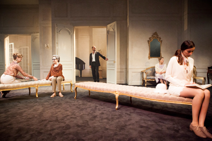 Heather Mitchell, Jane Harders, Hugo Weaving, Justine Clarke, Geraldine Hakewill, Les Liaisons Dangereuses, Sydney Theatre Company