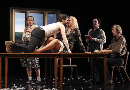 Paula Arundell, Cameron Goodall, Helen Thomson, Sandy Gore, Bruce Spence, Under Milk Wood, Sydney Theatre Company