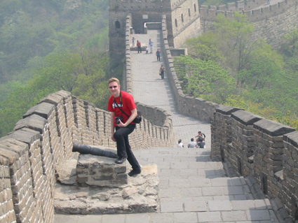 Dan Edwards on the Great Wall north of Beijing
