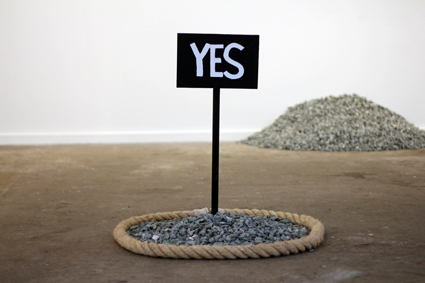 Dara Gill Untitled (Survey with stones) 2011
