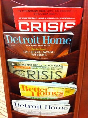 Magazine rack, Detroit Public Library