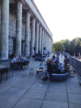 Balcony bar at the Haus der Kunst, Munich