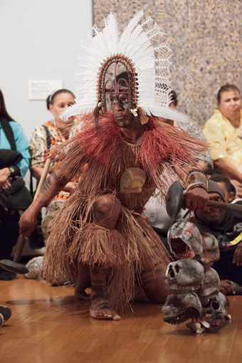 Alick Tipoti, performance, UnDisclosed exhibition, National Gallery of Australia, 2012