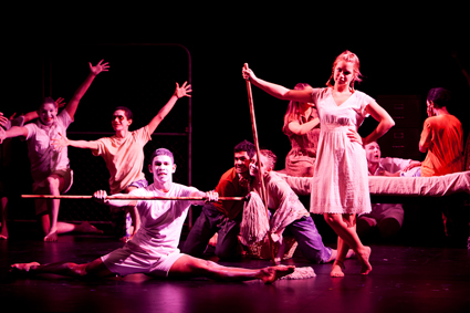 Students from the Aboriginal Centre for the Performing Arts, Brisbane perform Stolen by Jane Harrison, directed by Leah Purcell