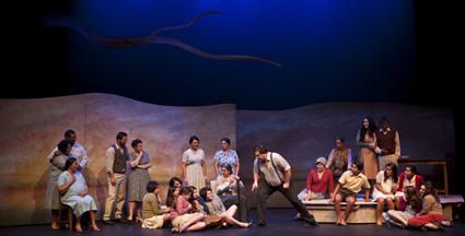 Tiriki Onus with the Short Black Opera ensemble and Dhungala Children's Choir, Pecan Summer