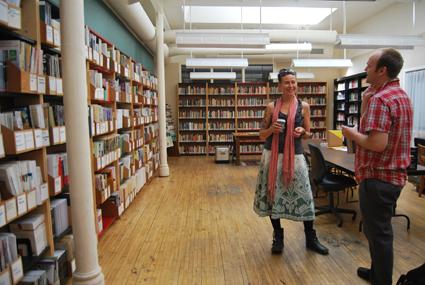Rebecca Conroy with Daniel Tucker, AREA Chicago