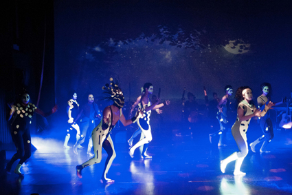 Students from the Aboriginal Theatre ensemble, STRONG by Phillip Walley-Stack, WA Academy of Performing Arts, 2012