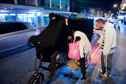 Cigdem Aydemir, Extremist Activity (ride), 2011, performance in Sydney