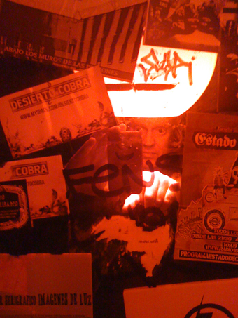 Tim Welfare in Bar Uno, Santiago, Chile