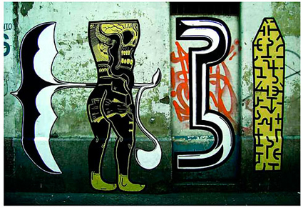 Street art by Basco Vazko, Santiago, Chile