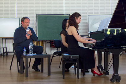 Daniel Matej and pianist Marianna Grynchuk, Daniel Matej in Perspective, Soundstream New Music Festival 2012