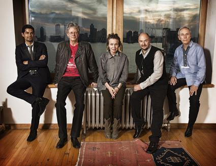 Laurie Anderson & Kronos Quartet, (l-r) Hank Dutt, Jeffrey Zeigler, Laurie Anderson, John Sherba, David Harrington