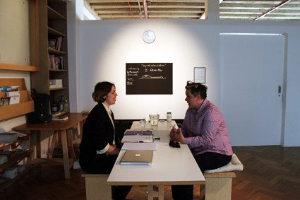 Kelly Doley, The Learning Centre: Two Feminists (The CoUNTess), performance documentation, Westspace Melbourne, 2012