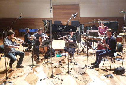 Ensemble Offspring recording SILVA at the ABC Studios, Sydney
