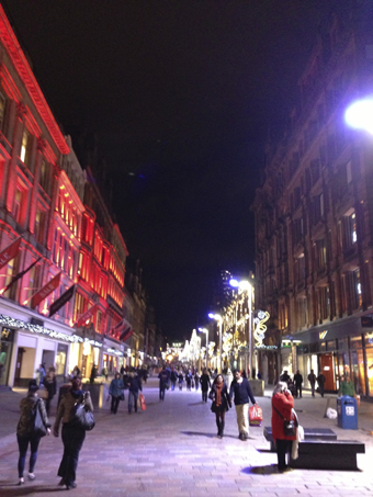 Buchanan Street in winter, Glasgow
