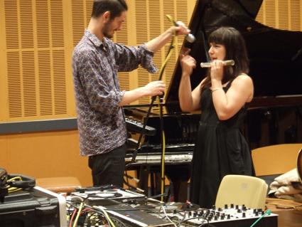John  Watts, Lina Andonovska, Everything Always: The Noise Works of Peter Ablinger rehearsal