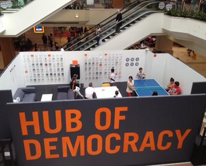 Hub of Democracy, Centre Court, Westfield Hurstville