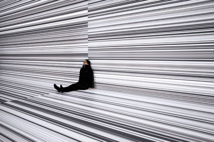 Ryoji Ikeda, data.tron [8k enhanced version], audiovisual installation, 2008-09, © Ryoji Ikeda