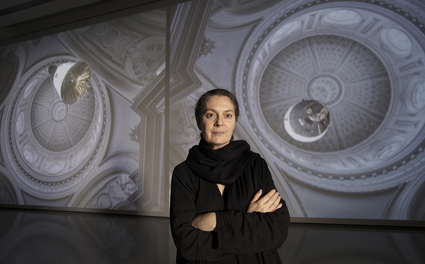 Grazia Toderi with Orbite Rosse (Red Orbits)