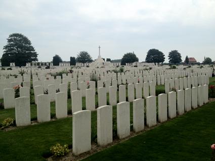 Cemetery in Ypres, Belgium