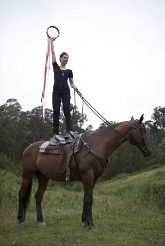 Lauren Brincat, Hight Horse (2012), documentation of an action, The space between us, Anne Landa Award for video and new media, AGNSW