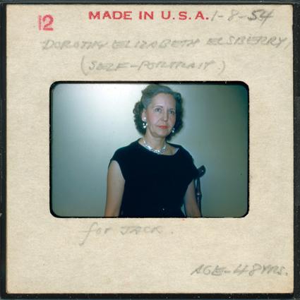 Dorothy (Self Portrait), 1964-2013, 35mm slide, Slide Show Land series, Elvis Richardson