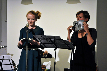 Jessica Wilkinson, Jenny Barnes perform marionette at Conduit Arts, May 9