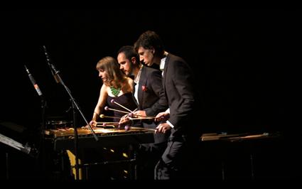 Leah Scholes, Eugene Ughetti & Matthias Schack-Arnott; Speak Percussion, MaerzMusik Festival