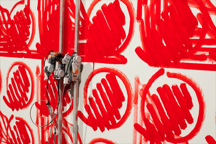 Smoking Bolts, Simon Ingram, installation view week 3, Artspace Sydney