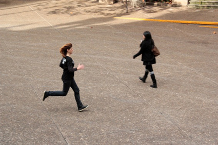 MAP Office, still from flash run, 2013, site specific performance, 4:33 mins