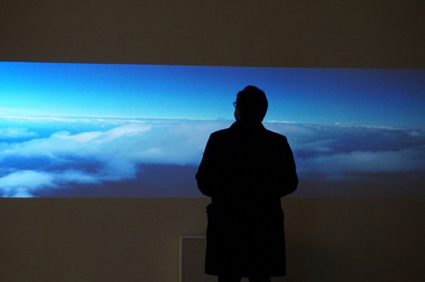 Volker Kuchelmeister, A dromological vision machine, 2013, Interactive video installation