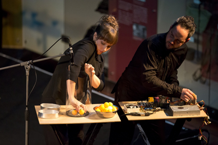 Leah Scholes, Eugene Ughetti, Transducer, Speak Percussion, THNMF2013