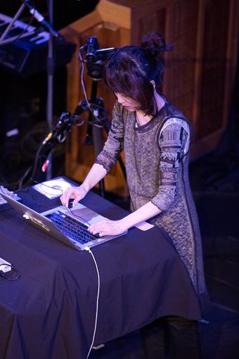 Haco performing StereoBugScope, THNMF13
