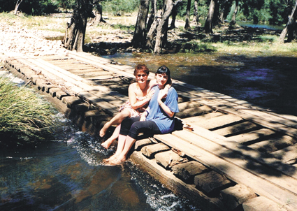Efterpi Soropos and her late mother Evangalia Soropos, 1987