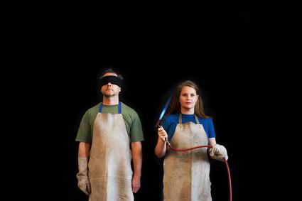Sarah Elson and audience member, Incendia Lascivio
