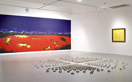 Blender, installation view of artworks by Allen Sparrow, Dagny Strand and Lorry Humphreys, Australian Experimental Art Foundation, 2013