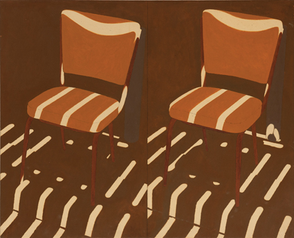 1994 same chair changed light situation, oil on canvas, Tony Woods: Archive